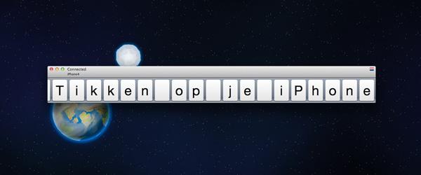 Type2Phone, je mac als bluetooth keyboard